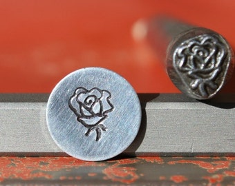 EXCLUSIVE Rose Flower Steel Stamp Perfect for Metal Stamping and Jewelry Design  SGK-28