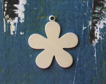 "Aluminum 5 Petal Flower Metal Stamping Blank - 1"" Metal Stamping Blank - 20 Gauge - Pack of 10 - Jewelry Metal Stamping Blanks- SGAD12430"