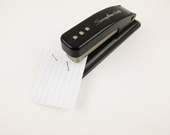Desk Supplies Right Out of the 1950s - A Black 'Swingline Cub' Stapler - Back-to-School - Desk Accessories - Office