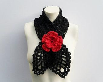 Crochet / Cotton Scarflette