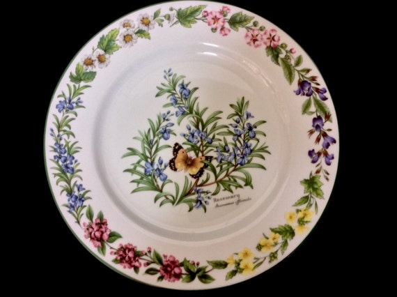 Royal Worcester Herbs Dinner Plate  Fine Porcelain, Vintage Decorative Plate, Decorative China, Tableware, Mismatched Dinner Plates