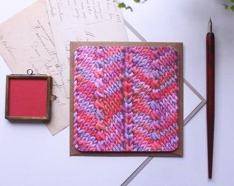 Knitty - A Knitting Themed Greetings Card Birthday Card