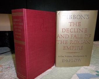 """Vintage Book """"The Decline and Fall of the Roman Empire"""" ca 1960 Edward Gibbon, 216S"""