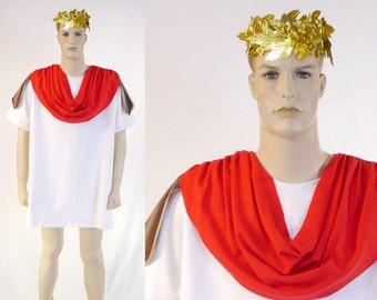 "Adult Men's Mark Antony Costume - Tunic & Cloak - Size 42"" Chest - Caeser - Cleopatra's Man - Roman General"