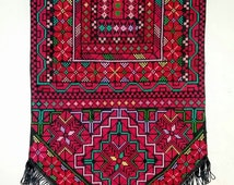 Palestinian embroidered wall hanging