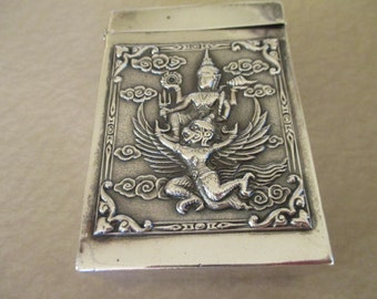 Siam Sterling silver hinged box
