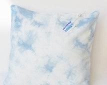 Tie-dye Pillow Cover, Sky Linen Pillow, Light blue Linen Pillow, Pillow Covers 20X20, Summer Sale