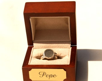 Ring Gift Box with Personalized Engraved Plaque