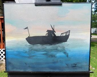 Untitled ship at sea