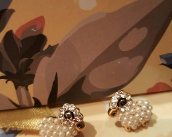 Cute!!! Sheep earrings