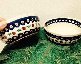 Two ceramic bowls from Poland