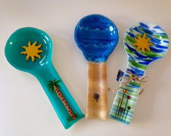 Tropical Glass Spoon Rest