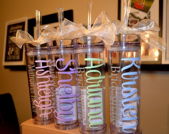 Bridesmaid Gift, Gift, Personalized Tumbler