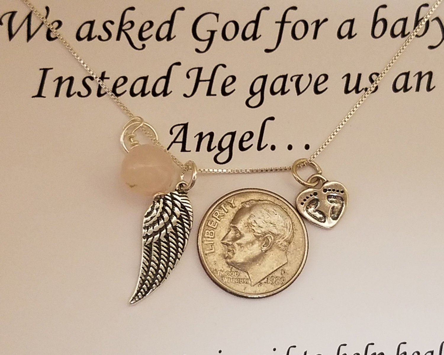 loss memorial dragonfly necklace dp miscarriage amazon one handmade com gift loved of for