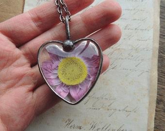 bridal jewelry, bridesmaid necklace, pressed flower, Terrarium Necklace, Nature Jewelry