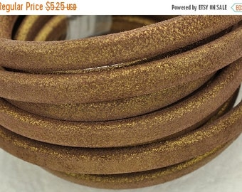 "55% OFF Metallic Bronze Licorice Leather - 10x 6mm Thick Leather - (8""/20cm)"