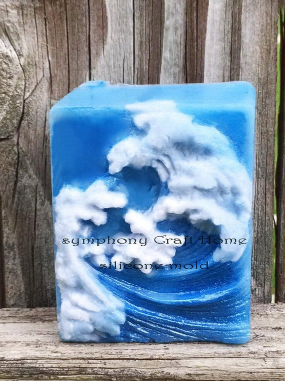 4 Cavity Wave Silicone Mold Silicone Soap Mold Ocean Wave