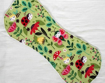 Ladybugs & Bees Contoured Burp Cloth