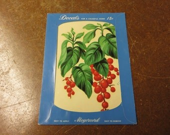 Vintage Meyercord Leaf and Berries Decal