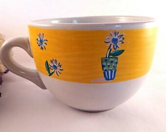 Coffee Mugs Set Of Two Beige Butterflies And By Tkspringthings