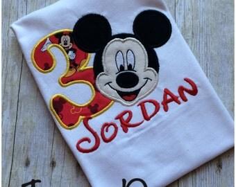 Personalized Mickey Birthday Shirt