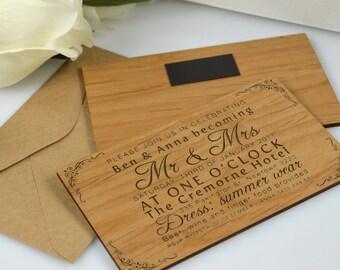 wooden invitations   etsy, Wedding invitations
