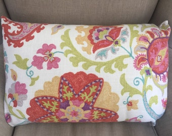 Large Rectangle Cushion Cover/Pillow in  Duralee Designs in Rosedust  with an EST Linen Backing.