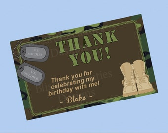 Military Themed Thank You Cards
