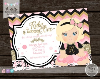 PRINTABLE- Little Diva  Birthday Invitation- YOU PRINT