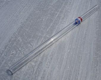 "Glass drinking straw ""Netherlands"", single, 10 x 200 mm, straight"