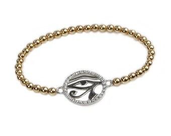 Gold Filed Greek Eye Bracelet -  bra-gf-g-greekeye