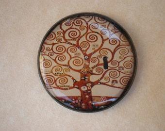 Tree of life brooch - Tree of life Klimt - Gustav Klimt art - Klimt art brooch - Gustav Klimt - Brooch art - Artwork jewelry