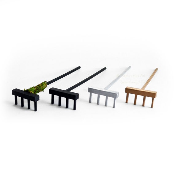 Zen Garden Rake // Zen Rake // 4 Tine // Tabletop Zen // 3D Printed // Sand  Art // Miniature Tools // Zen Accessory // Meditation / Mini Zen From ...