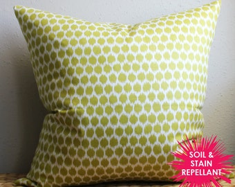 lime green dotted pillow - Soil & Stain Resistant