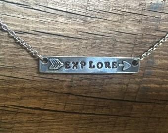 Explore arrow necklace