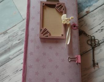 Tall skinny mini baby album girl 32 x 11 cm (12.5 x 4.5 inches)