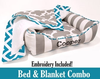 Bed & Blanket Combo - Custom Cuddle Bed with Matching Blanket