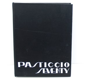 Vintage artistic 1970 yearbook // Pasticcio Seventy Yearbook Clark University / black and white photographs // photos collage supply vintage
