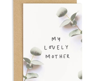 Lovely Mother Eucalpytpus Card - Mother's Day greeting card - CC179