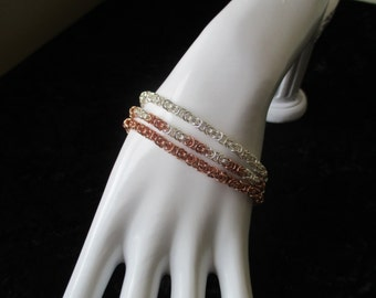 Triple Byzantine Chainmaille Bracelet