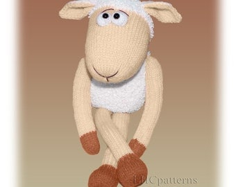 Sheep Knitted Toy Pattern (an extremely soft, huggable and cute toy)