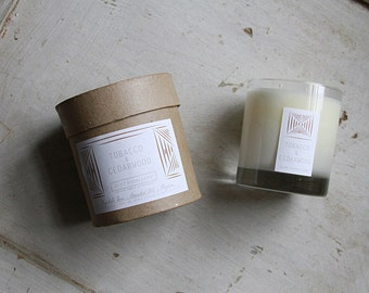 TOBACCO-CEDARWOOD Vegetable Wax Candle// Rustic Collection