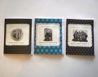Harry Potter Blank Cards, Hand Crafted