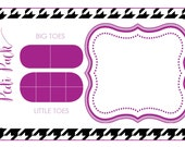 Pedi Pack Printable Card 3x5