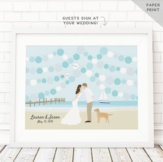 wedding guest book beach theme sign in book party guest book paper