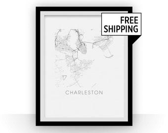 Charleston Map Print