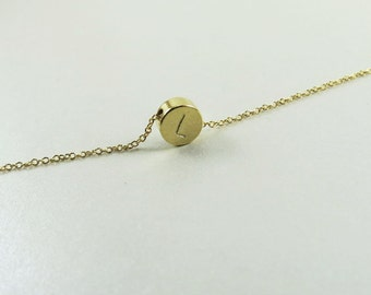 Tiny Dot Necklace Dainty Gold Necklace Bridesmaid Gift Simple Gold Necklace Personalized Necklace