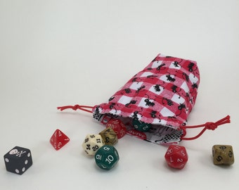 Small Reversible Drawstring Pouch