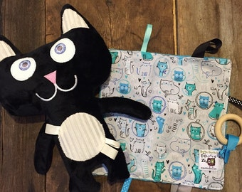 Duo cats black/blue collaboration with the mugs