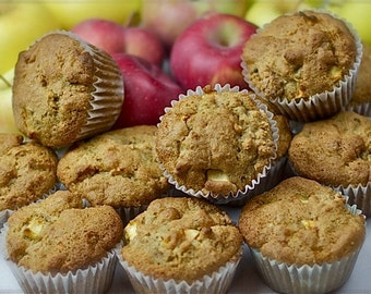 Vegan Apple Muffins (Gluten-Free)